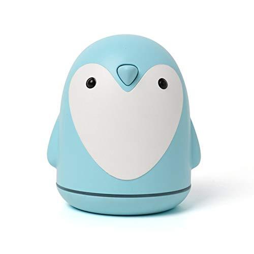 Pingüino humidificador de aire de 250 ml, neblina permanente y silenciosa aceite esencial del difusor del aroma difusor de escritorio del purificador con luz de la noche y el pequeño ventilador, conve