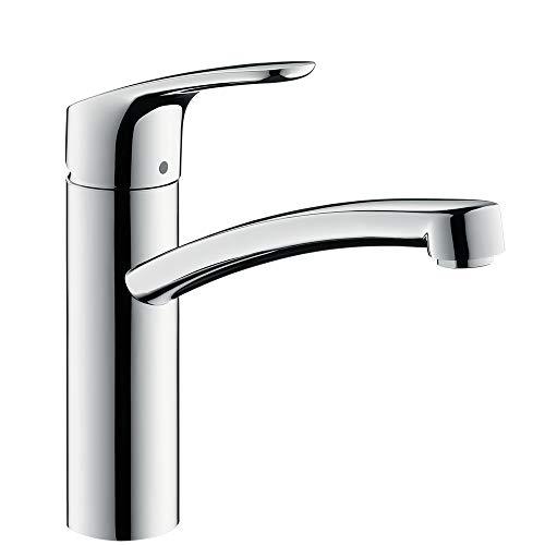 hansgrohe Focus Küchenarmatur (Wasserhahn Küche ohne Schlauchbox, 360° schwenkbar, hoher Auslauf 160mm) Chrom