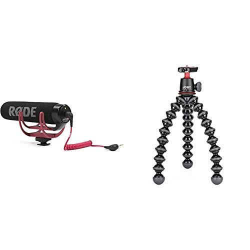 JOBY JB01507 GorillaPod Kit 3K - Trípode Flexible Ligero con Rótula para Cámaras DSLR y CSC/Sin Espejo + Rode VideoMic Go - Micrófono de Condensador para cámara DSLR, Jack 3.5 mm, Color Negro