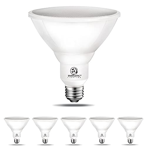 Outdoor Par38 Led Flood Light,11W=90W,900lm,5000K Daylight,E26 Base,Non-Dimmable, Waterproof Spot Bulb,UL Listed (6 Pack)