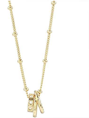 BEISUOSIBYW Co.,Ltd Collar Geométrico Anillo Cadena Mujer Botón Cadena Regalo