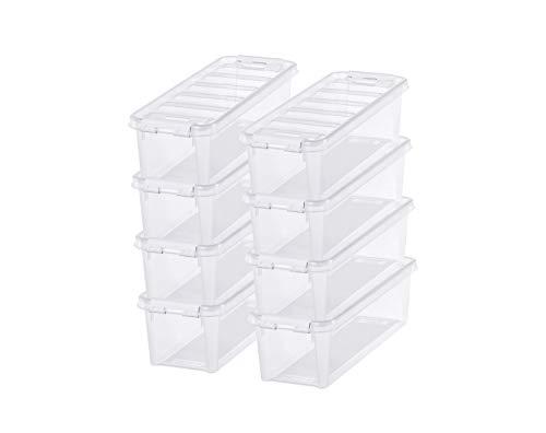 SmartStore Classic 4 - Juego de 8 cajas de almacenamiento pequeñas (plástico, 38 x 14 x 11 cm, 3,5 L), transparente