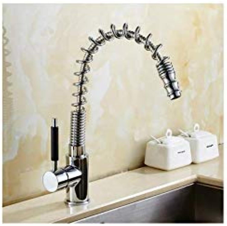 Ausziehbarer Küchenhahn Chrom Messing heies und kaltes Wasserhahn Waschbecken Mischbatterie Waschbecken Wasserhahn Waschtischmischer