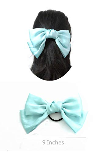 JaneOft 4 Pieces Bow Hair Tie, Big Hair Ribbon Rubber Bands 2
