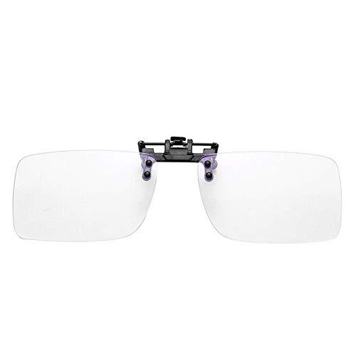 El bloqueo de luz azul clip sobre los vidrios anti-fatiga anti UV Blue Rays Voltear Strain encima de los vidrios de los ojos gafas de protección del ordenador 210103 (Frame Color : White)