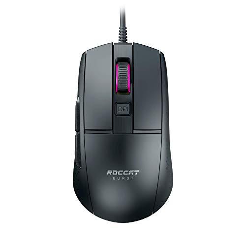 Roccat Burst - Mouse ottico per gaming, estremamente leggero (alta precisione, sensore ottico 8.500 DPI, peso 68 g, design in Germania), nero