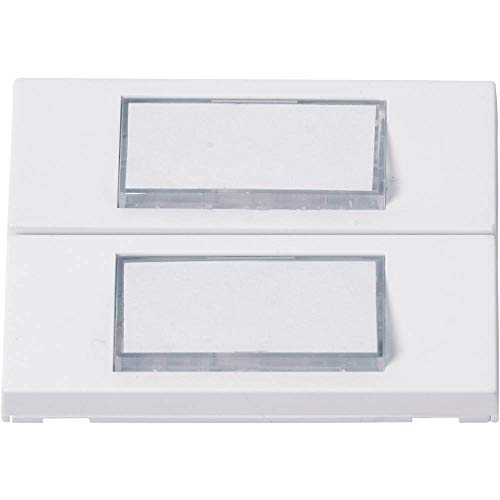 Heidemann 70054 Klingelplatte mit Namensschild 2fach Weiß 24 V/1 A