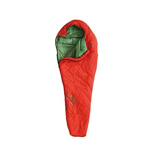 ALTUS - Sacco a pelo invernale Tibet 1100 colore tegola   Forma a mummia   Materiale in fibra   Temperatura da 2°C a -20°C   Ideale per montagna, campeggio o escursioni.
