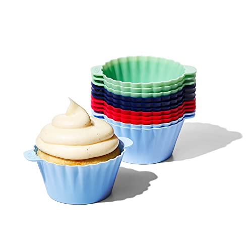 OXO Good Grips Silicone Baking Cups, Reusable, BPA-Free, Dishwasher Safe , Non-Stick, Food Grade, Cupcake Cups, Muffin Cups, Cupcake Liners, Muffin Liners