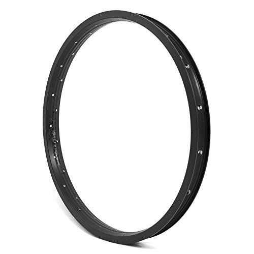 KHE MVP - Cerchione per BMX DD, 20 pollici, in alluminio, T6, solo 420 g, 36 fori, larghezza 35 mm, nero
