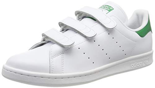 Adidas Stan Smith - Basket Mode - Homme , Blanc Cassé (Ftwr White/Ftwr White/Green), 38 2/3 EU