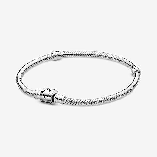 PANDORA Moments Barrel Clasp Snake Bracelet