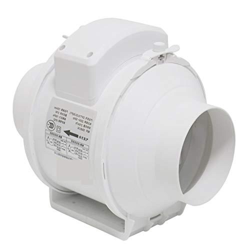 Ventilación Extractor Ventilador De Escape Conducto Circular Silencioso Diagonal Flujo Cocina Campana Extractora Potente Presurizado 100 Mm