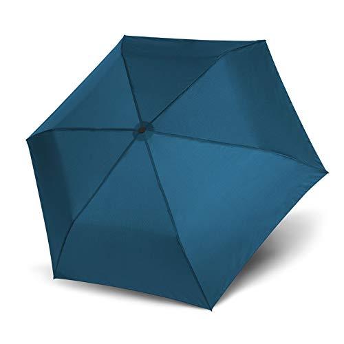Doppler Taschenschirm Zero, 99 Uni Crystal Blue - Leichter Taschenschirm unter 100g - Blau