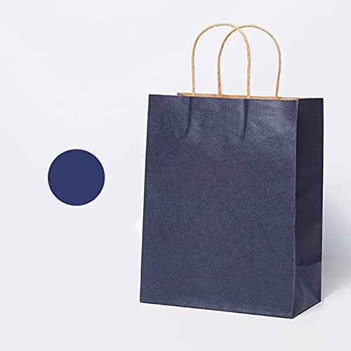 10-20Pcs Paper Bags With Handle Solid Color Gift Bags For Holiday Decoration, Catering Services
