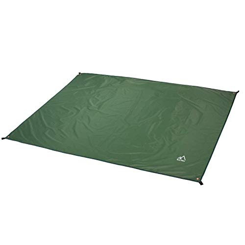 Terra Hiker Camping Tarp, Waterproof Picnic Mat, Multifunctional Tent Footprint with Drawstring Carrying Bag for Picnic, Hiking (Dark Green 59