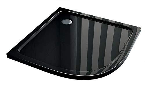 50 mm douchebak kwartcirkel 80 x 80 (Viertelkreis) cm zwart