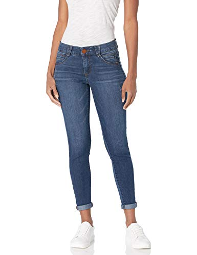 Democracy Women's Ab Solution Ankle Skimmer Jean, Indigo, 14