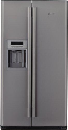Bauknecht KSN 536 A+ IO Side by Side / A+ / Kühlen: 335 L / Gefrieren: 180 L / Edelstahl-Optik / No Frost / Wasser- und Crushed-Ice-Spender