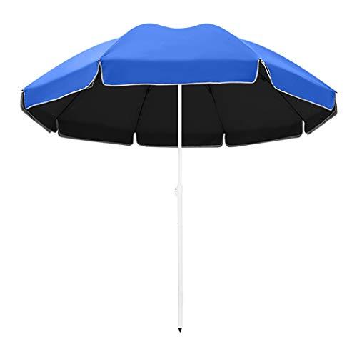 2,2/2,4m Sonnenschirm Höhenverstellung Tropischer Hawaii Regenschirm Outdoor Wasserdicht Regenschirm Winddicht Rahmen Rund Haushalt Einziehbar Blau Grün Orange
