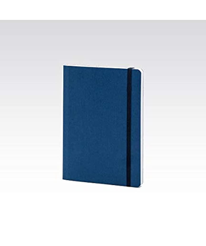 The Paper Boutique Fabriano Ecoqua A6 Lined Notebook with Elastic Band, Turquoise, 10.5 x 14.8 cm