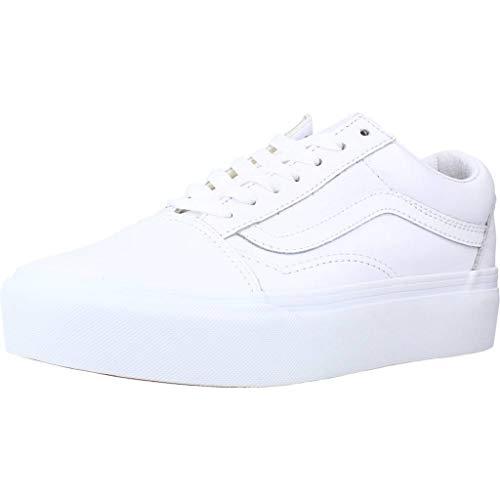 Vans Old Skool Platform Sneaker Femmes Weiss - 41 - Sneaker Low