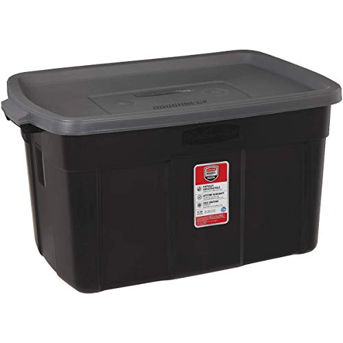 Tote, 31 Gallon, Black with Gray - UNITED SOLUTIONS RMRT310006