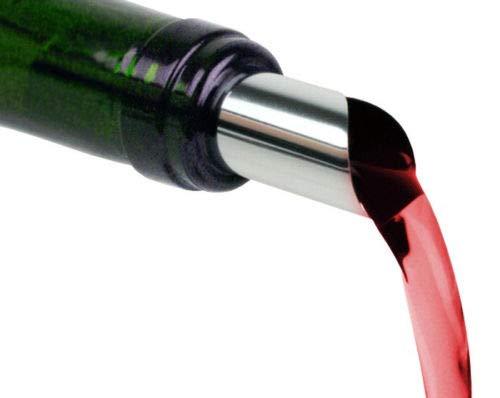 50 Stück Tropfenfrei Wein Ausgießer Weinausgießer 76mm Silber PET Folie