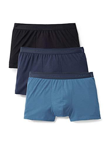 Calida Herren Natural Benefit Boxershorts (3er pack), Mehrfarbig (Multicolor 799), Large (Herstellergröße: L) (3er Pack