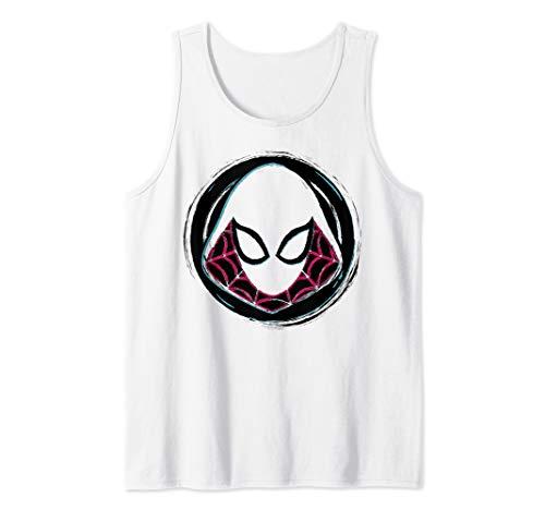 Marvel Spider-Gwen Face Symbol Badge Tank Top