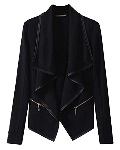 Cardigan Dames elegante lange mouwen onregelmatig jas lente herfst jongens chic vintage mode casual office blazer pak jas zwart