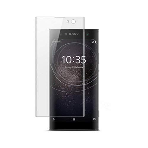 """HERCN Sony Xperia XA2 5.2"""" 3D Protector de Pantalla,3D Curvo 9H Dureza Vidrio Templado Protector de Pantalla para Sony Xperia XA2 Smartphone (Transparente)"""