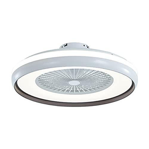 SJNSJN 80W LED Ventilador de Techo con Luz Lámpara, con Control Remoto, 3 Velocidade de Ventilación, 3 Colore Regulable Silencioso De La Sala Dormitorio De La Lámpara Del Ventilador Ø60CM