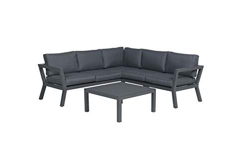 GMD Living Premium Loungeset Colorado 3-teilig, bestehend aus Eckbank (2 Bankteile) und Tisch
