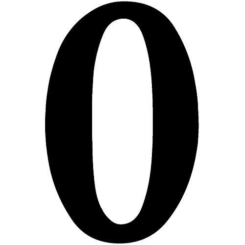 Zahlen-Aufkleber Nr. 0 in schwarz I Höhe 10 cm I selbstklebende Haus-Nummer, Ziffer zum Aufkleben für Außen, Briefkasten, Tür I wetterfest I kfz_471_0
