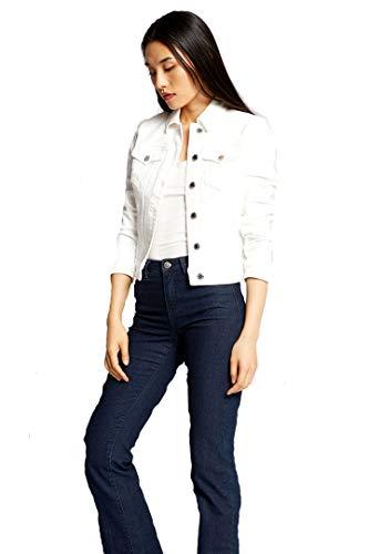 Morgan Veste Denim VPOM Blazer Casual, Blanc, T44 para Mujer