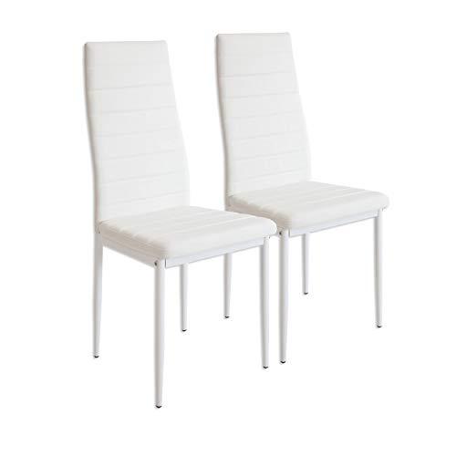 Albatros 2863 MILANO Set de 2 sillas de comedor, blanco