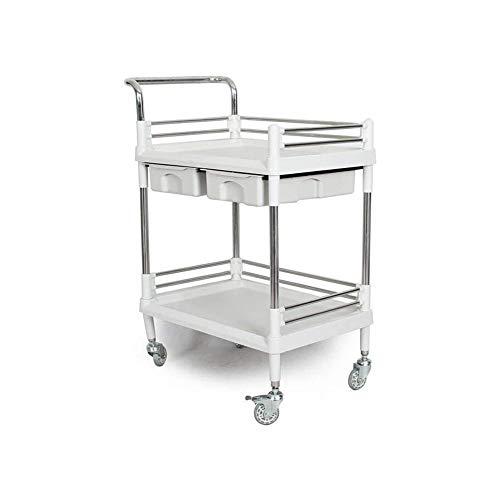 WJMLS Trolley Doppelbettwagen/Werkzeugwagen/Labor Shopping Auto/Multi-Layer-Lagerlogistik Werkzeug Auto/Büroregal