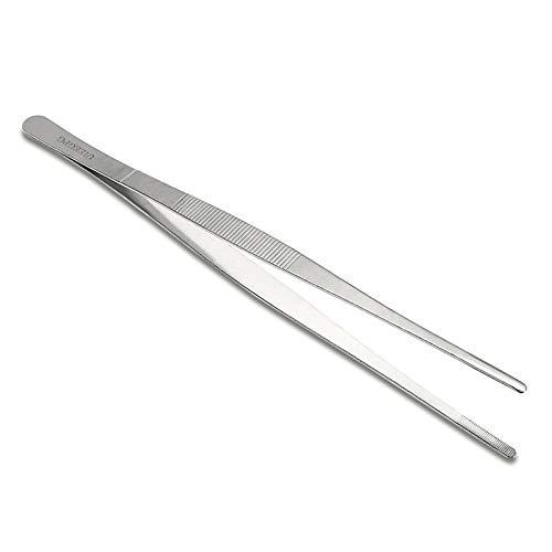 EAGLESTIME 30cm/12 inch Pinzette Lang Edelstahl Lebensmittel Zange Gerade Pinzette Küche Werkzeug
