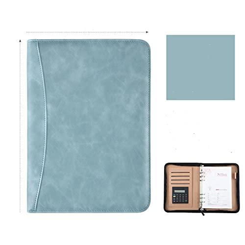 SHT A6 A5 B5 Diario Cuaderno y Revista Spiral Spiral with Calculator Zipper Bag Note Book Not Business Manager Carpeta Padfolio Manual