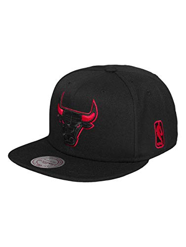 Mitchell & Ness Herren Snapback Caps Solid Teams Siren Chicago Bulls schwarz Einheitsgröße