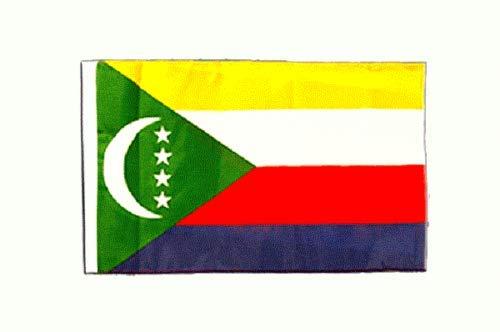 FlagSuperstore© Comoros Bootsflagge 45,7 x 30,5 cm – Baumhäuser, Wohnwagen – Ärmel 45 cm x 30 cm – Land