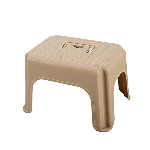 Omenluck 1 x Tritthocker, Kunststoff, robust, modern, für Wohnzimmer, Schlafzimmer