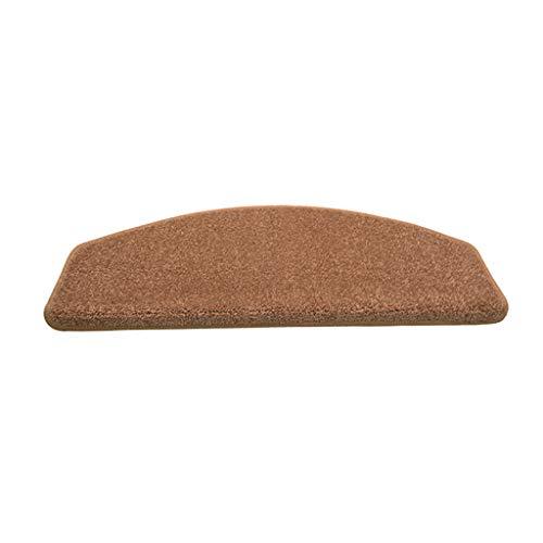 Antislip, geluidsniveau, trapmatten, shaggy set-step-tapijt, geen lijm, eenkleurig, 80 x 24 x 3 cm, mat/tapijt voor traptreden, wasbaar, verkrijgbaar in 9 kleuren, rechthoekig en halve cirkelvormig
