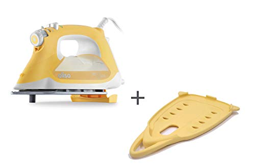 Oliso Pro TG1600 Smart Iron with iTouch Technology, 1800 Watts (Butterscotch w/Solemate)