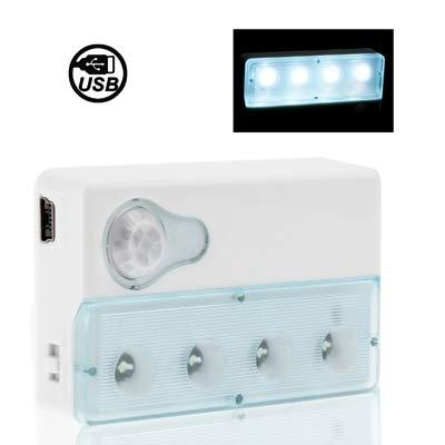 LED Light Mini 4 LED de infrarrojos PIR automático del sensor de movimiento del detector de luz - Smart Led Light