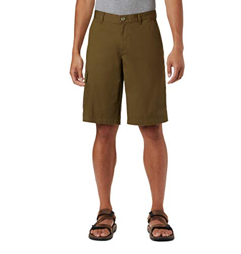 Columbia Men's Red Bluff Cargo Short, New Olive, 34x10