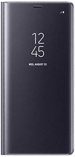 Samsung Mobile Clear View Standing Cover Custodia Compatibile Galaxy Note 8, Grigio