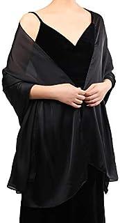 وشاح طويل من الحرير للنساء من Boao وشاح ناعم خفيف شفاف لحفل الزفاف إكسسوار كل يوم