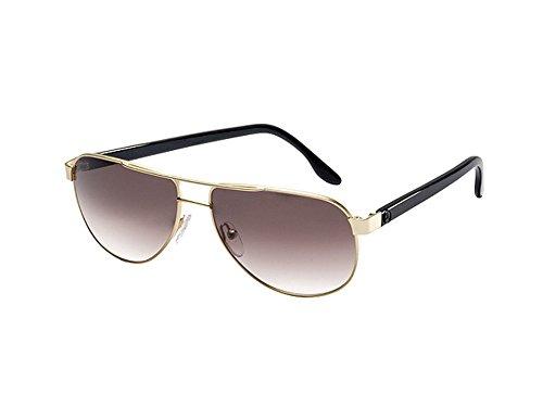 Mercedes-Benz, Sonnenbrille Damen goldfarben/schwarz, matt, Metall/Acetat